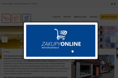Plastyk. Poster, Fabryka Kopii - Wizytówki Kalisz