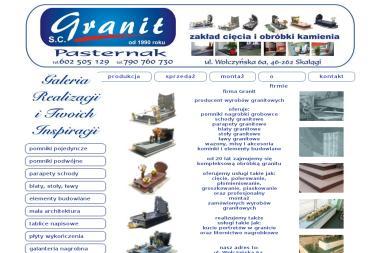 Granit S.C. Pomniki, parapety granitowe - Schody metalowe Skałągi