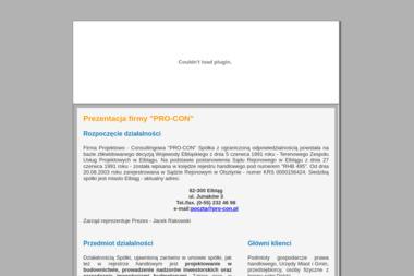Firma Projektowo Consultingowa Pro Con Sp. z o.o. - Projekty domów Elbląg