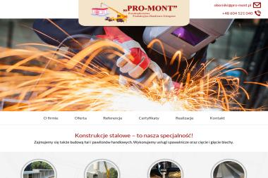 Pro-Mont. Konstrukcje stalowe, Hale - Sprzęt Budowlany Oborniki