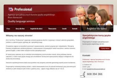 Miszczak Berbeć Magdalena Professional Agencja Specjalistycznych Kursów J Ang Biuro Tłumaczeń - Kursy Języków Obcych Lublin