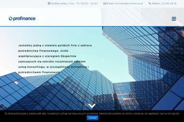 Profinance.pl - Faktoring Warszawa