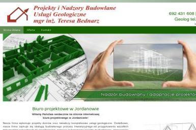Projekty i Nadzory Budowlane Mgr inż. Teresa Bednarz. Usługi geologiczne - Geologia Jordanów