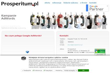 Prosperitum Reklama Internetowa Krzysztof Tosik - Linki sponsorowane, banery Głowno