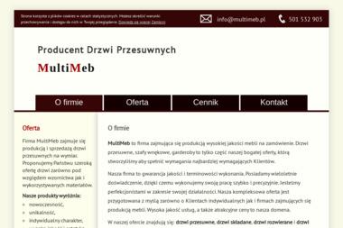 Multimeb Krzysztof Łazarczyk. Drzwi przesuwne, meble, meble na wymiar - Meble Na Zamówienie Maciejowice
