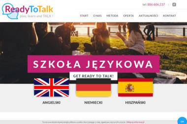 Ready-To-Talk Angelika Palak. Szkoła językowa, język angielski - Nauczanie Języków Pobiedziska