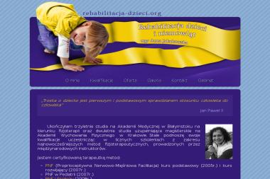 Gabinet Rehabilitacji Dzieci i Niemowl膮t Anna Jakubowska - Rehabilitant Bia艂ystok