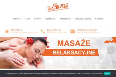 """""""DLA CIEBIE"""" Pracownia Masażu i Rehabilitacji - Masaż Tychy"""