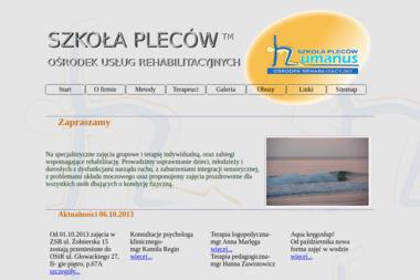 Humanus Szkoła Pleców, Ośrodek Rehabilitacyjny - Rehabilitant Olsztyn