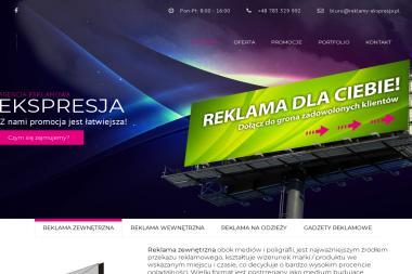 Agencja Reklamy Ekspresja. Reklama, baner - Ulotki Nowa Sarzyna