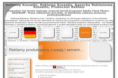 Agencja Reklamowa Rekprom - Druk wielkoformatowy Koszalin