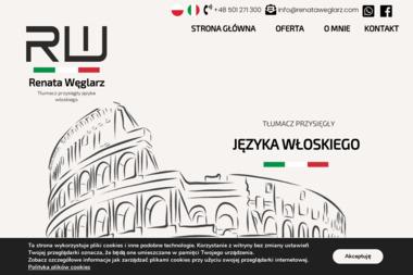 Renata Węglarz tłumacz przysięgły języka włoskiego - Tłumacz Języka Angielskiego Płock