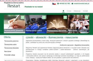 Magdalena Domaradzka Restart - Nauka Angielskiego Łomianki