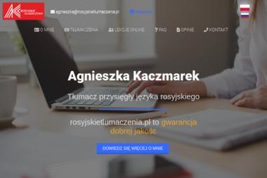 Tłumacz przysięgły języka rosyjskiego Agnieszka Kaczmarek - Tłumacz Języka Angielskiego Mogilany