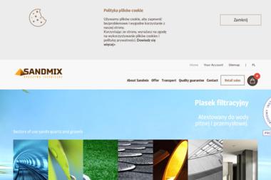 Sandmix Sp. z o.o. - Piaski, żwirki suszone, piasek suszony - Piaskowanie Konstrukcji Chróścice