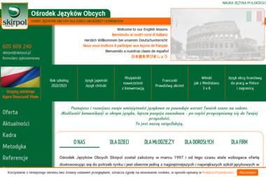 Ośrodek Języków Obcych i Doradztwa Handlu Zagranicznego Skirpol Skirka Alina - Język hiszpański Świdnica