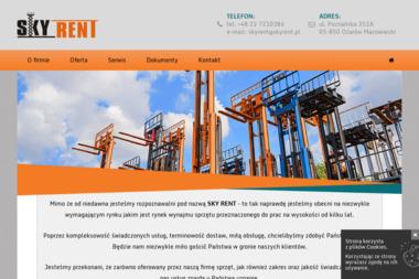 SKY RENT. Podesty Ruchome, Rusztowania Aluminiowe dla Budownictwa i Przemysłu - Krótkoterminowy wynajem maszyn budowlanych Ożarów Mazowiecki