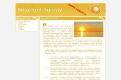 Solarium Sunray. Solarium stojące, solarium łóżko - Dietetyk Miastko