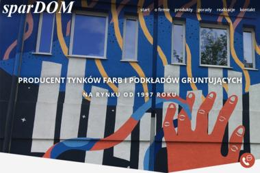 sparDOM Producent Tynków i Farb akrylowych i silikonowych - Sprzedaż Materiałów Budowlanych Słupsk