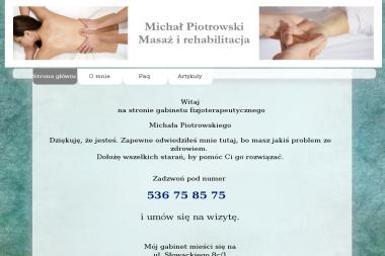 Michał Piotrowski - fizjoterapeuta - Fizjoterapeuta Stargard