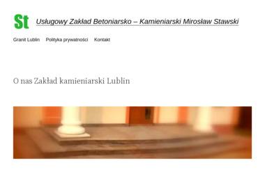 Usługowy Zakład Betoniarsko - Kamieniarski Mirosław Stawski - Schody kamienne Bychawa