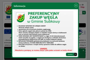 Gminny Ośrodek Pomocy Społecznej w Subkowach - Pomoc domowa Subkowy