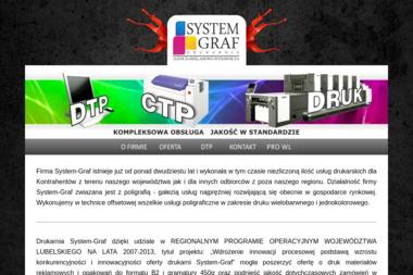 System-Graf Drukarnia, Agencja Reklamowo-Wydawnicza - Ulotki Zemborzyce Tereszyńskie