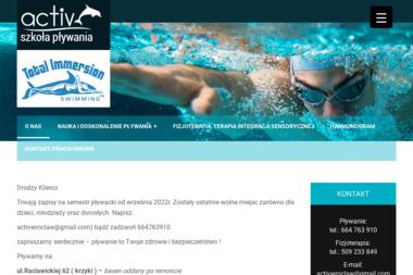 Szkoła Pływania Activ (Kompleks Sportowo-Basenowy WKS Śląsk) - Kursy Nurkowania Wrocław
