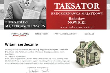 Taksator Radosław Nowicki art. Projekt - Agencja nieruchomości Świdnica