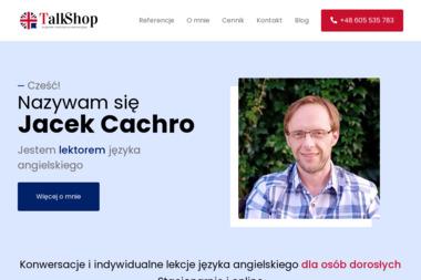 TalkShop - Jacek Cachro - Nauka Angielskiego Kraków