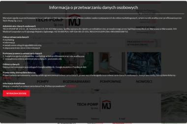 Tech-Pomp Sp. z o.o. Pompy, agregaty pompowe - wynajem, serwis, sprzedaż - Wypożyczalnia Maszyn Budowlanych Warszawa