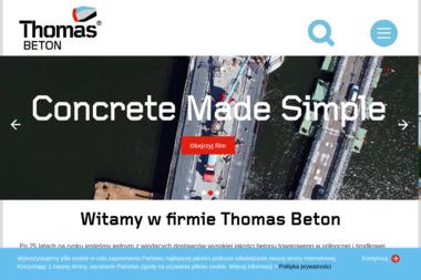 Thomas Beton Polska Sp. z o.o. Zakład produkcyjny we Włynkówku. Beton, zaprawy murarskie - Sprzedaż Materiałów Budowlanych Włynkówko