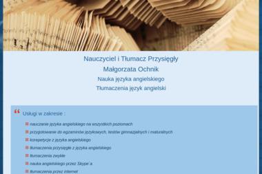 Nauczanie i Tłumaczenie J Angielskiego Małgorzata Ochnik - Szkoła Językowa Piechowice