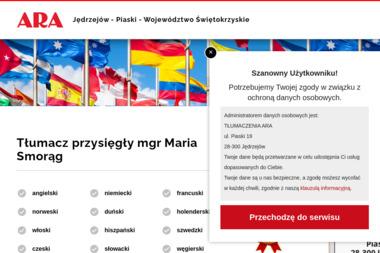 ARA BIURO TŁUMACZEŃ - Tłumaczenie Angielsko Polskie Jędrzejów