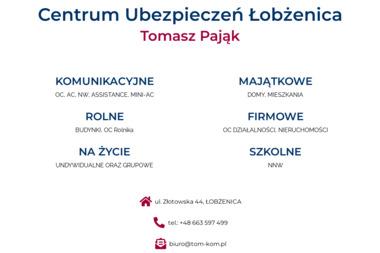 Tom-Kom Tomasz Pająk - Ubezpieczenia Łobżenica