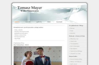 Tomasz Mayer. Wideofilmowanie, kamerzysta - Kamerzysta Bydgoszcz