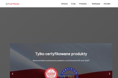 Z.P. Truck-Plandax. Plandeki, reklama - Agencja marketingowa Wieluń