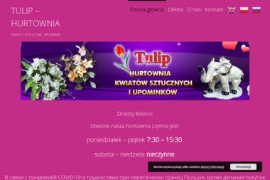 Tulip - Hurtownia kwiatów sztucznych i upominków - Kosz ze Słodyczami Białystok