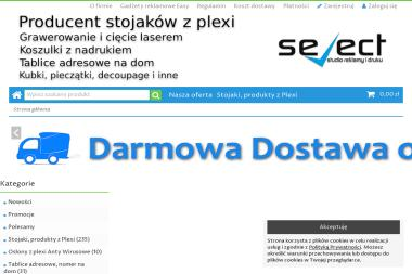 Studio Reklamy i Druku Select Dawid Wojciechowski. Grawerowanie, stojaki z plexi, plexi - Drukowanie Gostyń