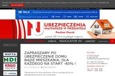 Biuro Ubezpieczeń Paulina Hocek - Ubezpieczenia na życie Przemyśl