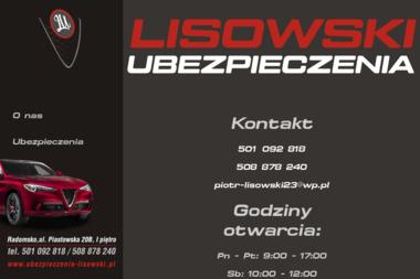 Ubezpieczenia Lisowski. Agencja ubezpieczeniowa - Ubezpieczenia Radomsko