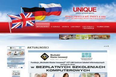 1 Unique Szkoła Języków Obcych Małgorzata Bełcik 2 Biuro Rachunkowe Małgorzata Bełcik - Szkoła językowa Opole Lubelskie