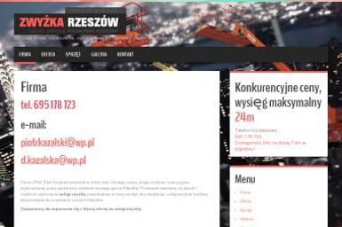 PKA Piotr Kazalski - zwyżka, podnośnik koszowy, prace na wysokości - Maszyny Budowlane Używane Rzeszów