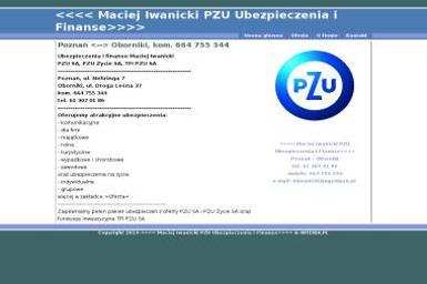 PZU Agencja Ubezpieczeniowa Maciej Iwanicki - Brokerzy Ubezpieczeniowi Oborniki