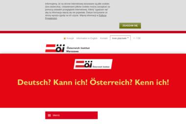 Instytut Austriacki Österreich Institut Warszawa - Kurs niemieckiego Warszawa