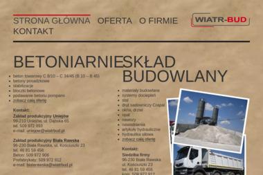 Wiatr-BUD Regina Wiatr - Sklep Budowlany Biała Rawska