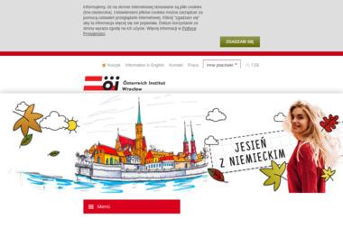 Instytut Austriacki Österreich Institut Wrocław - Kurs niemieckiego Wrocław