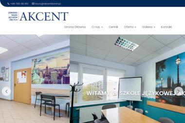 """Ośrodek Nauki Języków Obcych """"AKCENT"""" - Nauka Języka Konin"""