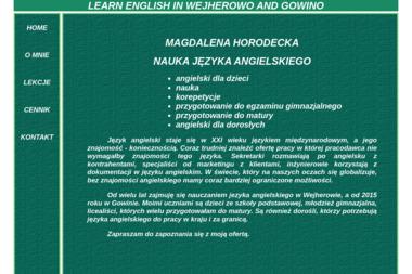 NAUKA JĘZYKA ANGIELSKIEGO - Nauczyciele angielskiego Wejherowo