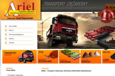 ARIEL Transport Ciężarowy, Hurtownia Materiałów Budowlanych - Pokrycia dachowe Brusy